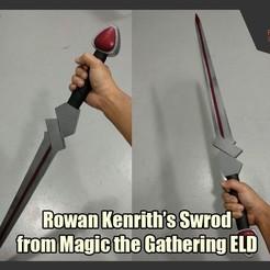 RowanKenrithSword.jpg Télécharger fichier STL gratuit L'épée de Rowan Kenrith de Magic the Gathering ELD • Objet imprimable en 3D, FunbieStudios