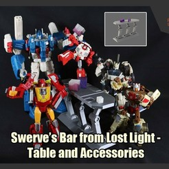 Download 3D printing models Swerve's Bar on Lost Light - Table and Accessories, FunbieStudios