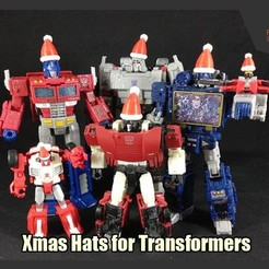 Descargar archivos STL gratis Sombreros de Navidad para Transformadores, FunbieStudios
