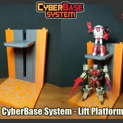 Download STL files [CyberBase System] Lift Platform, FunbieStudios