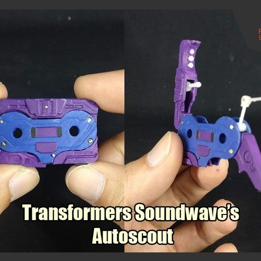 Download 3D printer templates Transformers Soundwave's Autoscout, FunbieStudios