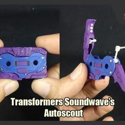 Download 3D printer templates Transformers Soundwave's Autoscout, FunbieStudios