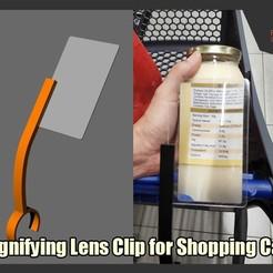 Descargar modelo 3D gratis Clip de lente de aumento para carritos de la compra, FunbieStudios