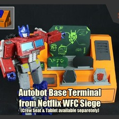 WFCAutobotTerminal_FS.JPG Download STL file Autobot Base Terminal from Transformers Netflix WFC Siege • Template to 3D print, FunbieStudios