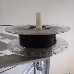 Download free 3D printer files Simple Spool holder for Rostock printers, italymaker