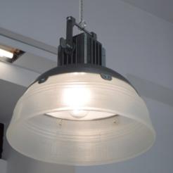 Free stl files Industrial Lamp - 3D printed, italymaker