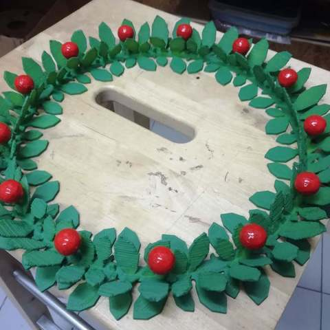 Free STL Maker Christmas wreath, italymaker