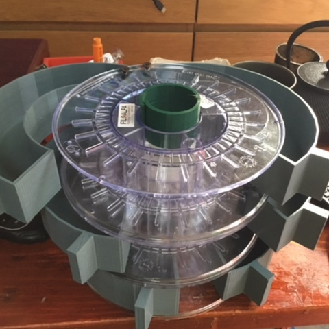 Free STL files Recycled spools dresser, italymaker