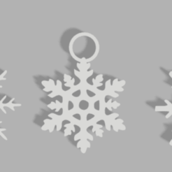 Flocon de neiges.png Download STL file Snowflake Christmas decoration • 3D printable design, Lumia