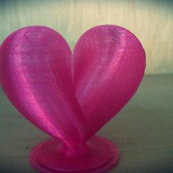 Free 3d printer files Heart , MakePrintable