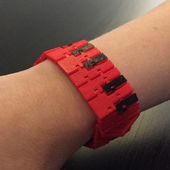 Free 3D print files Piano Kinematic Bracelet, MakePrintable