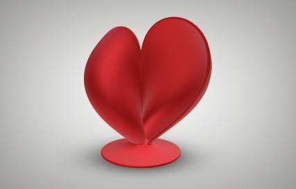 V-for-Website.png Download free STL file Heart  • 3D printing template, MakePrintable