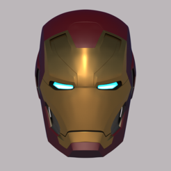 Impresiones 3D Iron Man Mk 46 Casco, BlackHawk