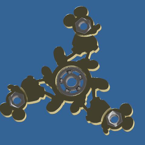 Capturea.PNG Download free STL file Mickey-Spinner • 3D print template, BOUVERAT3DPrint