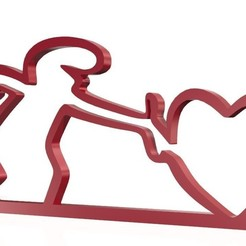 Download free STL file The Linea heart • Template to 3D print, BOUVERAT3DPrint