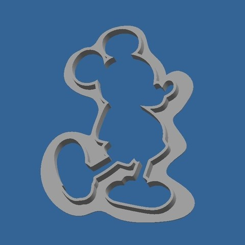Download STL file Cookie_cutter_Mickey • 3D print design, BOUVERAT3DPrint
