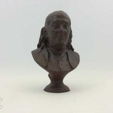 Download free STL file Benjamin Franklin • 3D printing object, isaac