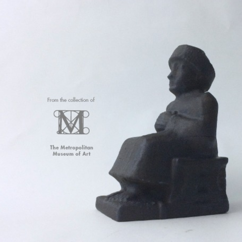 Free 3d printer designs Seated statue of Gudea, isaac