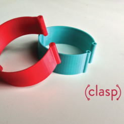 Download free 3D printer files CLASP | A Simpler Watchband, isaac