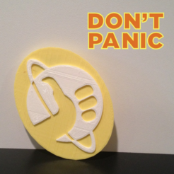Free 3D file Hitchhiker's Guide to the Galaxy Emblem, isaac
