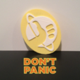 Free 3d printer designs Hitchhiker's Guide to the Galaxy Emblem, isaac