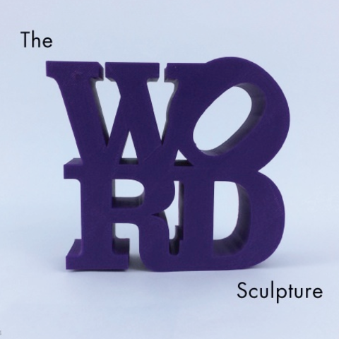 Download free STL file WORD Sculpture • 3D print object, isaac