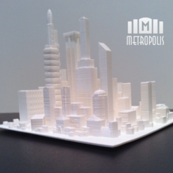 Download free STL file Metropolis • 3D print template, isaac