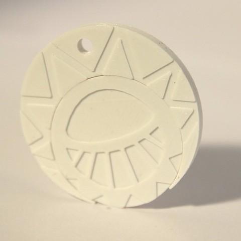 Objet 3D gratuit Médaillon du soleil, objets3d