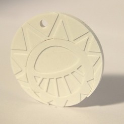 Download free 3D printing designs Sun Medallion, objets3d