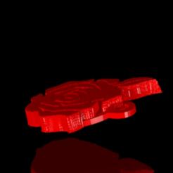 Plan imprimante 3D rose clé, PLAmarket3D