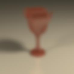Download STL file Glass of wine • 3D printable object, PLAmarket3D