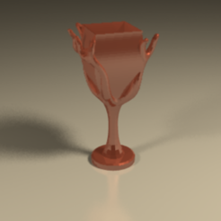 Download 3D model Glass of wine, PLAmarket3D