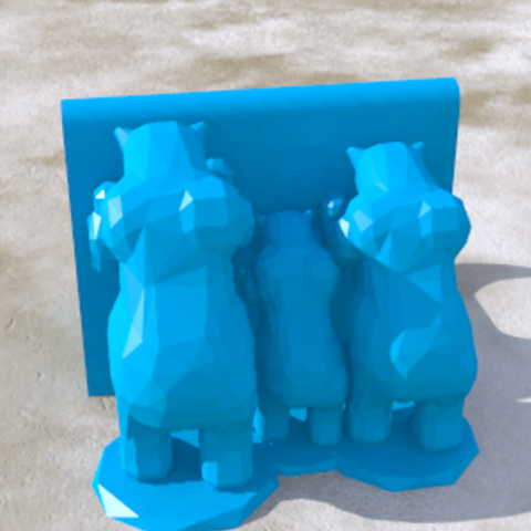 Descargar modelos 3D Bears_family, PLAmarket3D