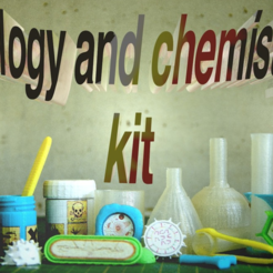 Download free 3D printing models chemistry and biology kit, JOHLINK