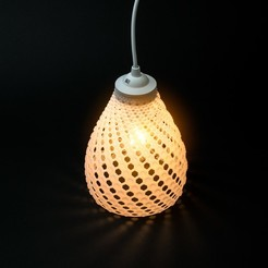 STL file LAMPION  | Fibonacci LAMP SHADE, VOOOD