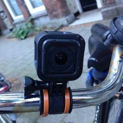 Download free STL file GoPro zip tie bike mount • 3D print template, cash