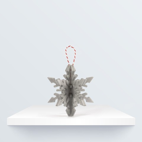 Free 3D print files Christmas ornament: Snowflake, BQ_3D
