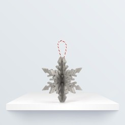 Download free 3D model Christmas ornament: Snowflake, BQ_3D