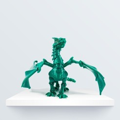 "Download free 3D printing models ""BRAQ"" JOINTED DRAGON, BQ_3D"