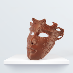 venetian_Mask_3d_1080px_1080px_1.png Download free STL file Venetian mask • 3D printer design, BQ_3D