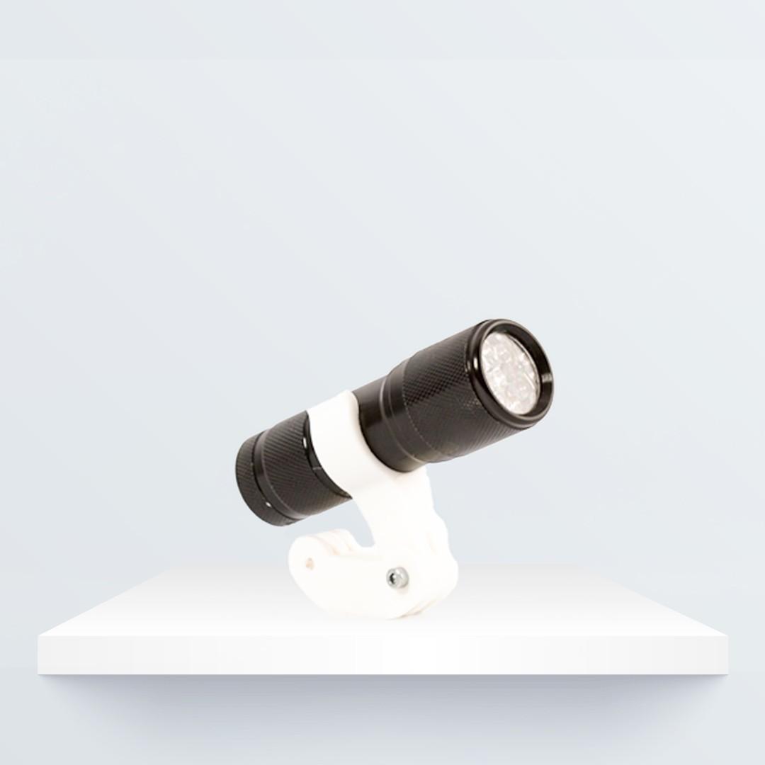 Bicycle torch holder (2).jpg Télécharger fichier STL gratuit Support de torche pour vélo • Objet imprimable en 3D, BQ_3D