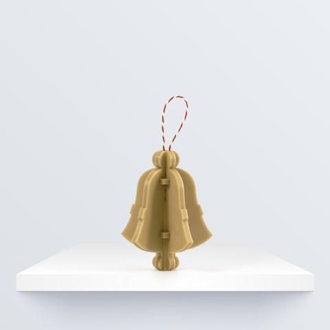 Free STL Christmas ornament: Bell by BQ, BQ_3D