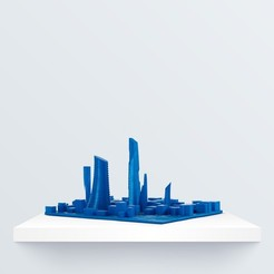 skyline_3d_1080x1080.jpg Download free STL file Skyline • 3D print object, BQ_3D