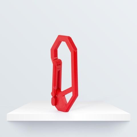 Free 3D printer designs Carabiner, BQ_3D