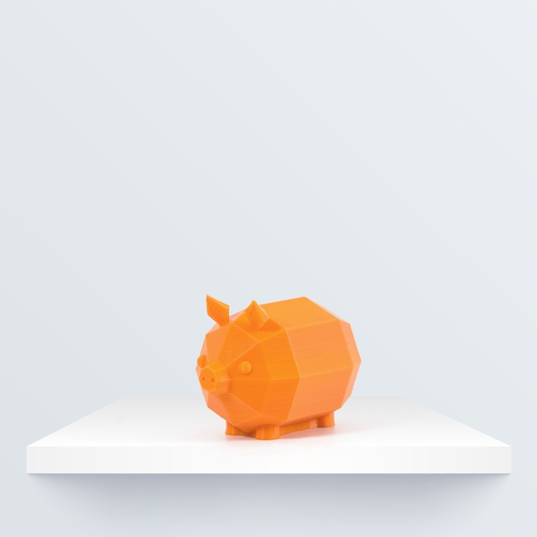 Low poly piglet_2_1080x1080.jpg Télécharger fichier STL gratuit Faible Poly Porcinet • Plan à imprimer en 3D, BQ_3D