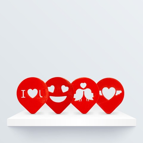 Free 3D printer model Valentine's Coffee Stencil, BQ_3D