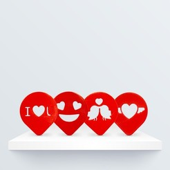 Download free 3D printing models Valentine's Coffee Stencil, BQ_3D