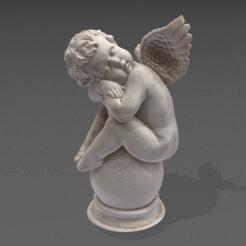 Télécharger fichier OBJ Ange endormi • Plan pour imprimante 3D, augustin123