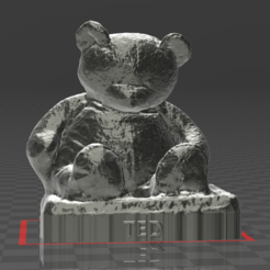 Download free STL file TED bear, augustin123