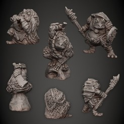 02_Toads.jpg Download STL file Toad Tribe • 3D printer design, PorcSkulpt9